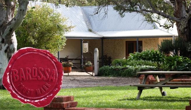 Turkey Flat Cellar Door gardens Barossa Trust Mark seal